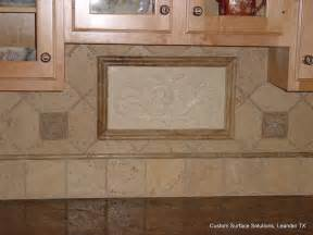 Kitchen Backsplash Travertine Tile Kitchen Granite Counter And Travertine Tile Backsplash