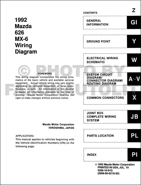 1992 mazda 626 wiring diagram wiring diagram gw micro