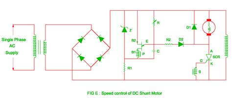 speed of dc shunt motor speed of dc motor by solid state devices
