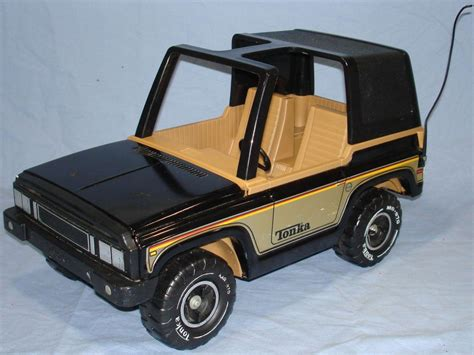 Tonka Jeep Vintage Tonka Corporation 4x4 Black Jeeps