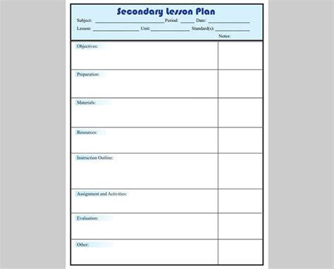 subject lesson plan template 5 free lesson plan templates free premium templates
