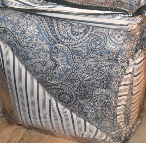 blue paisley bedding ralph lauren ashbourne blue paisley king or queen