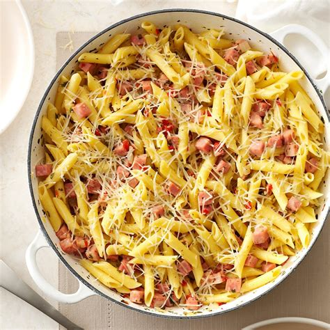 Pretty Penne Ham Skillet Recipe   Taste of Home