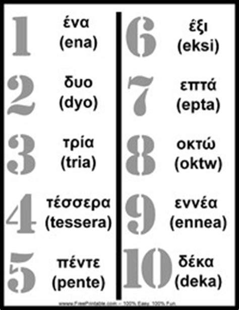 printable greek numbers greek numbers chart