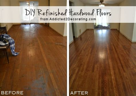 Refinished Hardwood Floors Before And After with My Diy Refinished Hardwood Floors Are Finished