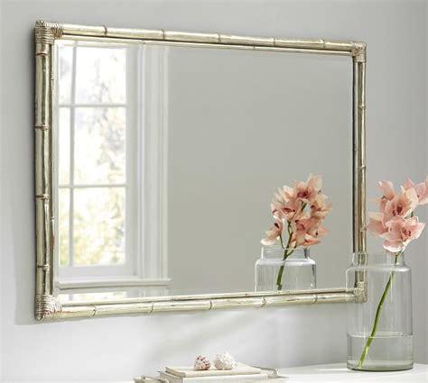 bamboo silver gilt wall mirror pottery barn