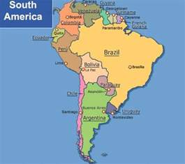 south america map with capitals america