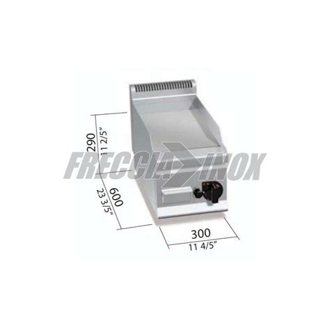 Fry Top A Gas Da Banco by Fry Top A Gas Liscio Da Banco Kw 4 Prof 600 Frecciainox