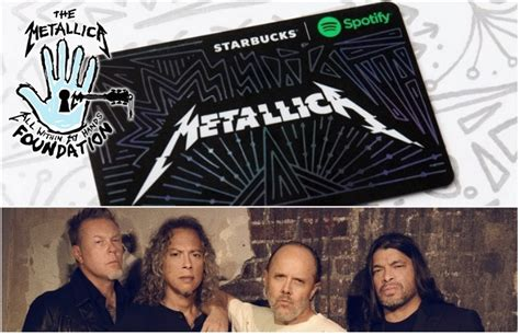 Where To Buy Spotify Gift Card 2017 - metallica team with starbucks spotify for new charitable gift card news