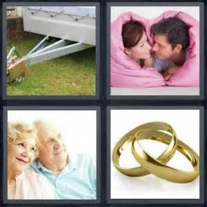 two wedding rings four pics one word 4 pics 1 word answer for hitch love elderly marriage