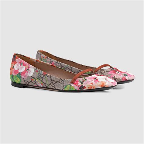 Flat Shoes Ballerina Canvas Gucci 7311 Semprem gucci pink bloom print gg supreme canvas ballerina flats lyst