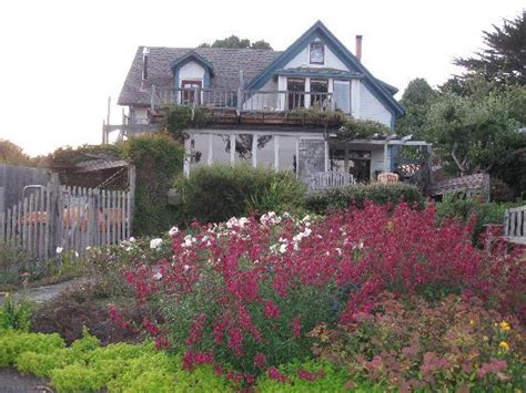 Alegria Oceanfront Inn And Cottages by A Garden View From The Glider On The Deck Picture Of