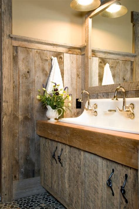 meubles salle de bain  decoration dans le style rustique