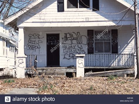 we buy houses kansas city mo house with gang graffiti photographed in kansas city mo usa esl stock photo royalty