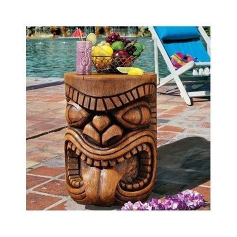 tiki patio furniture tiki bar table hawaiian side end pool indoor outdoor