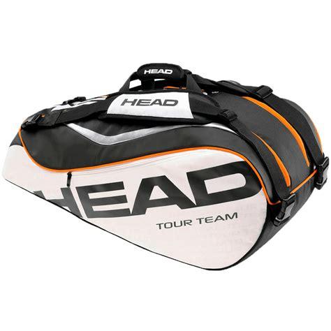 2014 tour team combi tennis bag black white