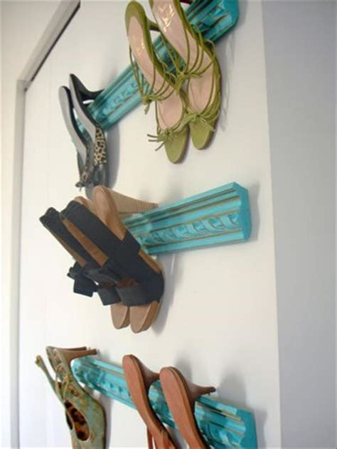 diy high heel shoe rack crown molding shoe rack dump a day