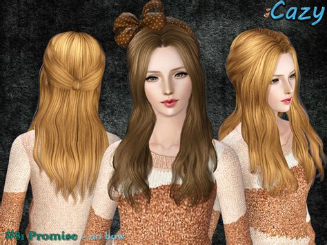 sims 3 hair custom content cazy s promise hairstyle female