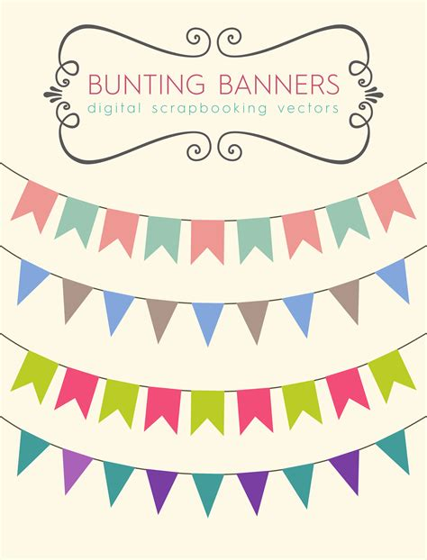 free printable bunting flags and tutorial download these bunting banners to use for your party