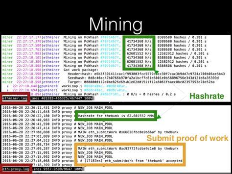 Ether Mining 1 Hashrate ether mining 101