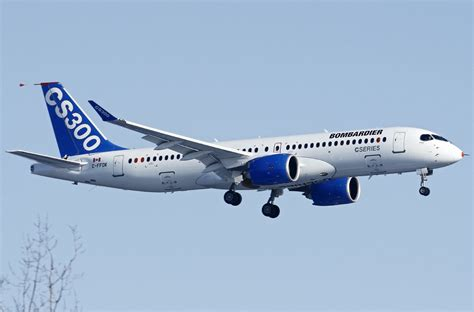 aubry s 1st flight books file bombardier bd 500 1a11 cseries cs300 on finals after