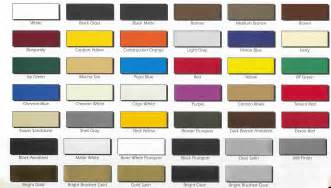 freightliner trucks paint color chart