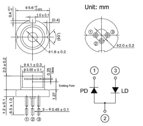 laser diode pin configuration single mode laser diode at 730nm