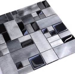 black glass metal backsplash tile modern tile by