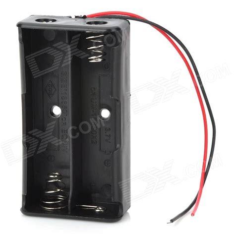 2x Aa Battery Holder Baterai Batere Box Kotak Batr Diskon 7 4v 2 18650 battery holder box w leads black