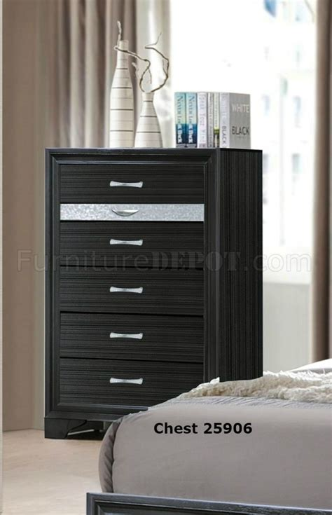 Naima Set naima bedroom set 5pc 25900 in black by acme w storage bed