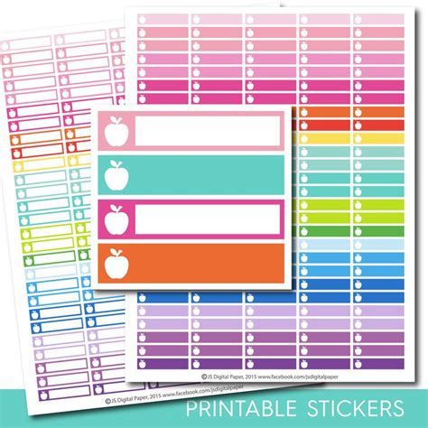 printable stickers for teachers 8 best stickers printable planners images on pinterest