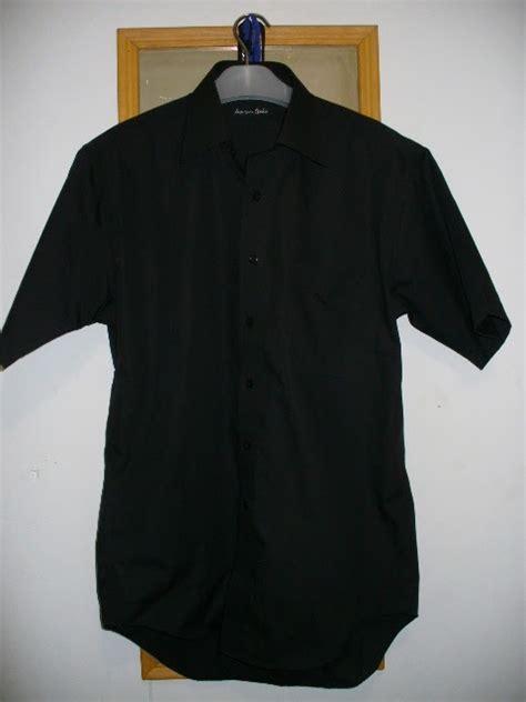 Kemeja Polos Hitam By Hachihams pasar grosir nusantara kemeja hem hitam polos