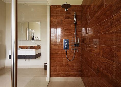 bathroom with wood tile interior exterior plan high end bathroom design in a