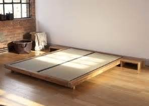 futon company solid acacia bed frame with tatami mats