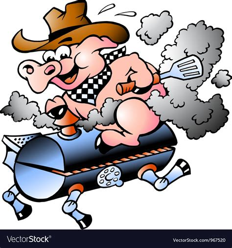 pig clipart 1 royalty free stock illustrations vector bbq pig riding on a grill barrel royalty free vector image
