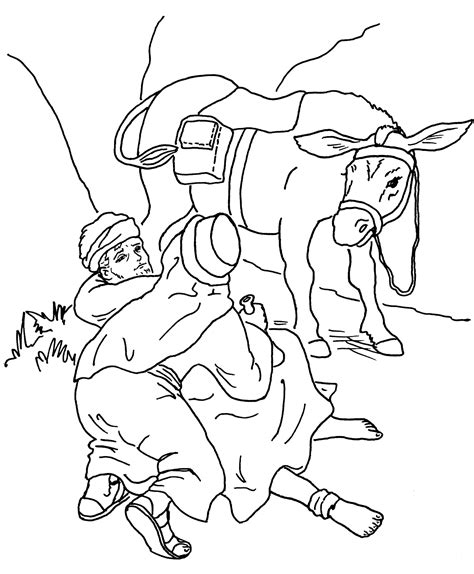 coloring page for good samaritan good samaritan coloring pages