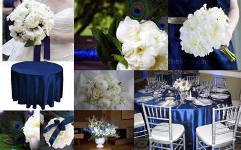 navy blue and white wedding navy blue and silver wedding decorations