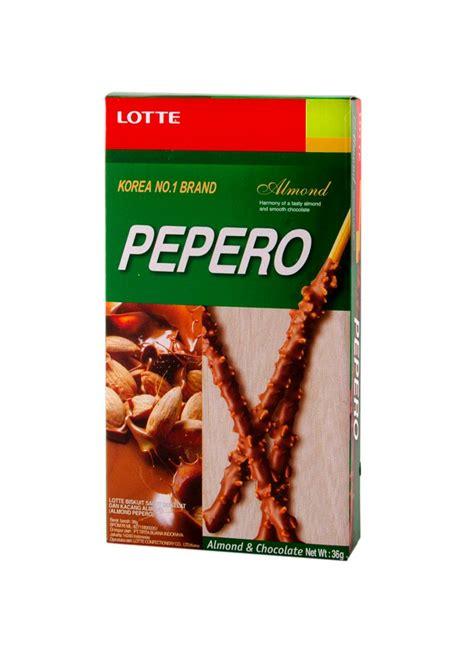 Pocky Tenun 1 lotte pepero biscuit stick almond box 32g klikindomaret