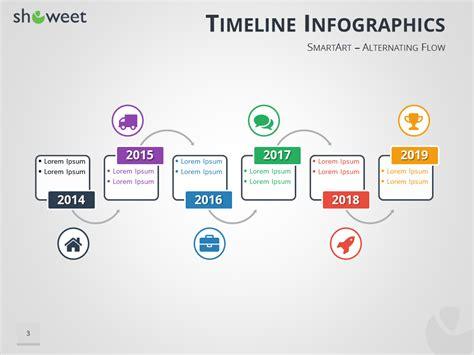 Infographie Frises Chronologiques Pour Powerpoint Smartart Timeline Powerpoint