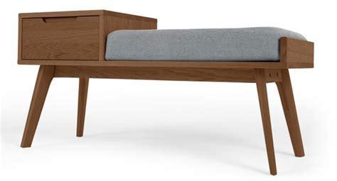 retro storage bench 1960s style jenson retro storage bench at made
