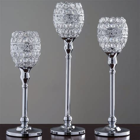 Beaded Candle Holders 14 Quot Beaded Candle Holder Goblet Votive