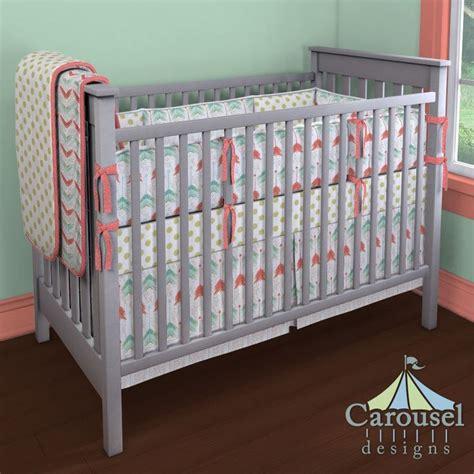 coral chevron crib bedding 1000 ideas about coral chevron bedding on