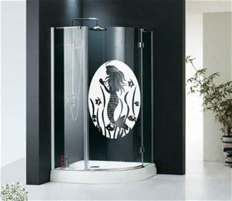 Oval Mermaid Static Cling Etched Glass Door Decals