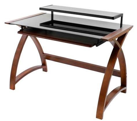 Wood And Glass Desk by Wood And Glass Desk A Classic And Weightless Solution For Your Study