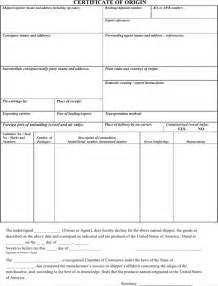 Certificate Of Origin Template Word by Certificate Of Origin Templates For Excel Pdf And Word