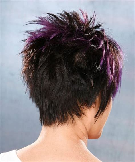 spiked hair in back longer in front pixie cut front and back view short hairstyle 2013