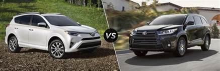 Toyota Highlander Vs Rav4 2017 Toyota Rav4 Vs 2017 Toyota Highlander