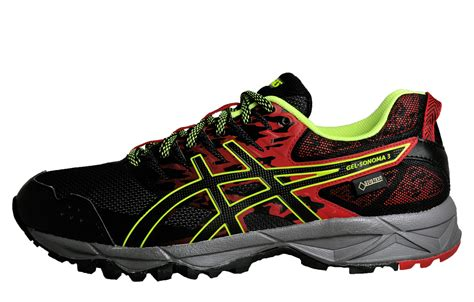 Asic Tex asics gel sonoma 3 gt x tex mens all terrain trail running shoes black ebay