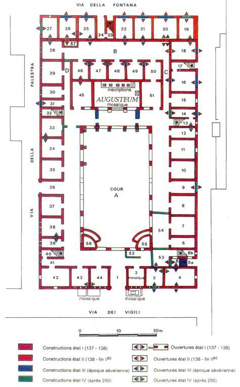 roman insula floor plan the roman fire brigade vigiles of ancient ostia