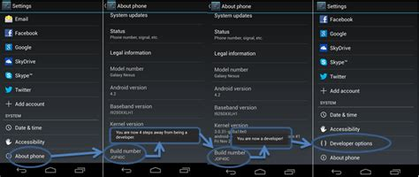 debugging android android enable usb debugging mode for android